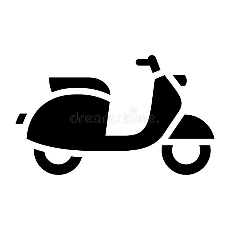 Transport on the road. Black icon isolated on white background, flat style vector illustration