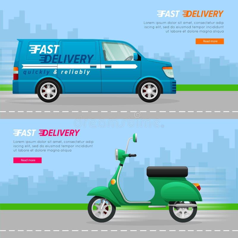 Transport Samling av två bilsymboler royaltyfri illustrationer