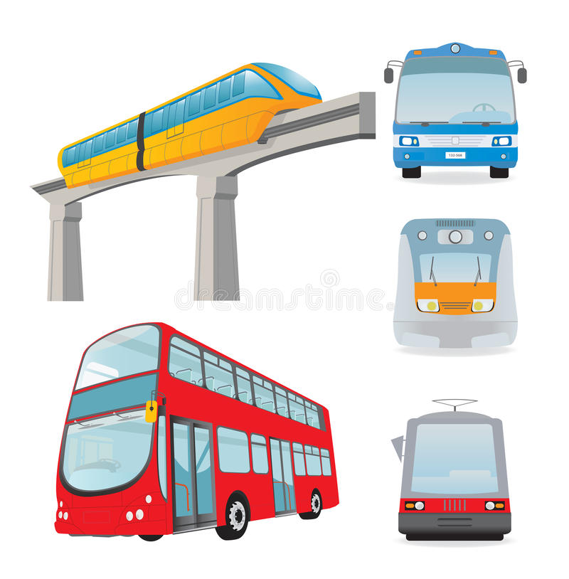 Download Transport set stock vector. Image of trip, icon, train - 23137352