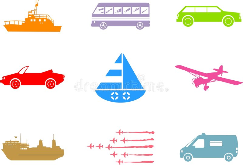 Download Transport shapes stock illustration. Image of isolated - 5552255