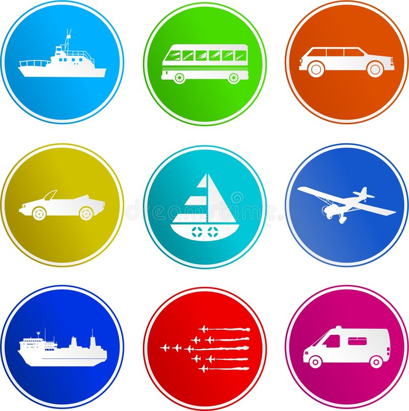 Transport sign icons royalty free illustration