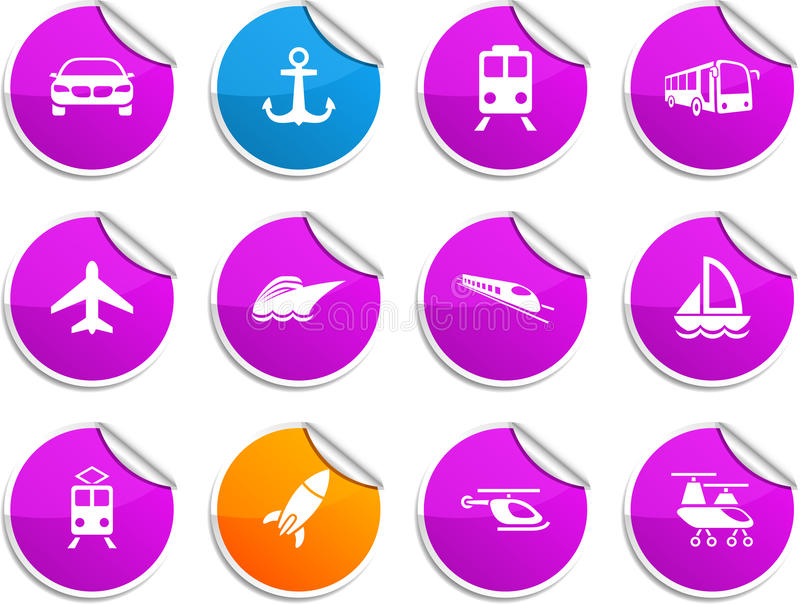 Download Transport stickers. stock vector. Illustration of group - 14863403