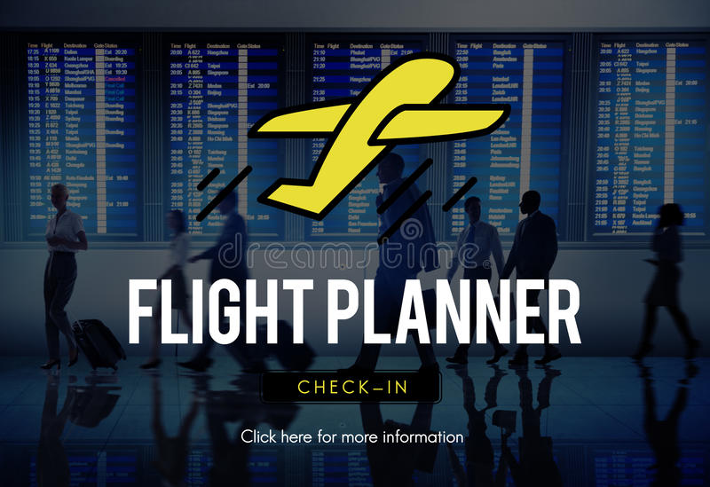 Transport Travel Departure Take off Concept. Flight Planner Transport Travel Departure Take off Concept royalty free stock images