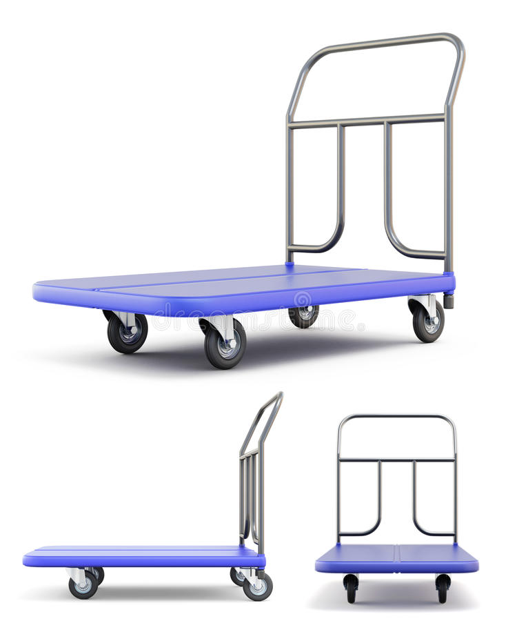 Transport trolley with different species stock illustration