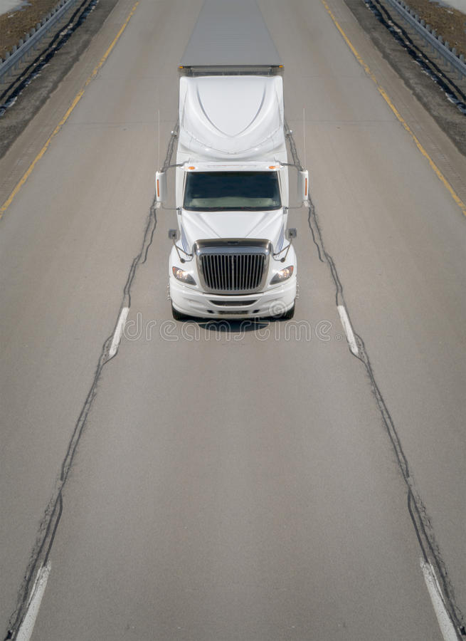 Transport Truck on Highway royalty free stock image