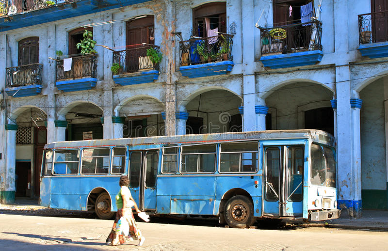 Transport urbain, La Havane, Cuba images libres de droits