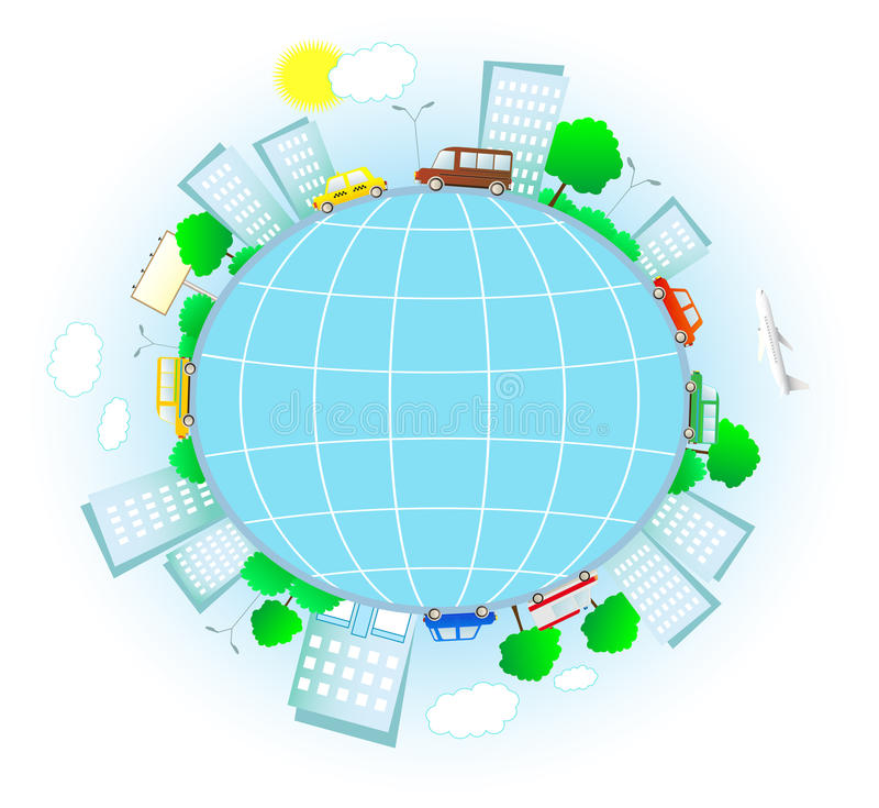 Download Transport In Urban Planet Royalty Free Stock Image - Image: 22012126