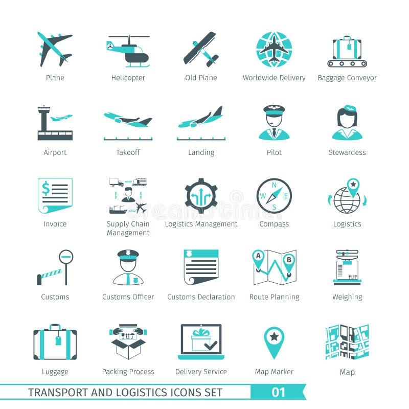 Transport Ustawia 01 royalty ilustracja