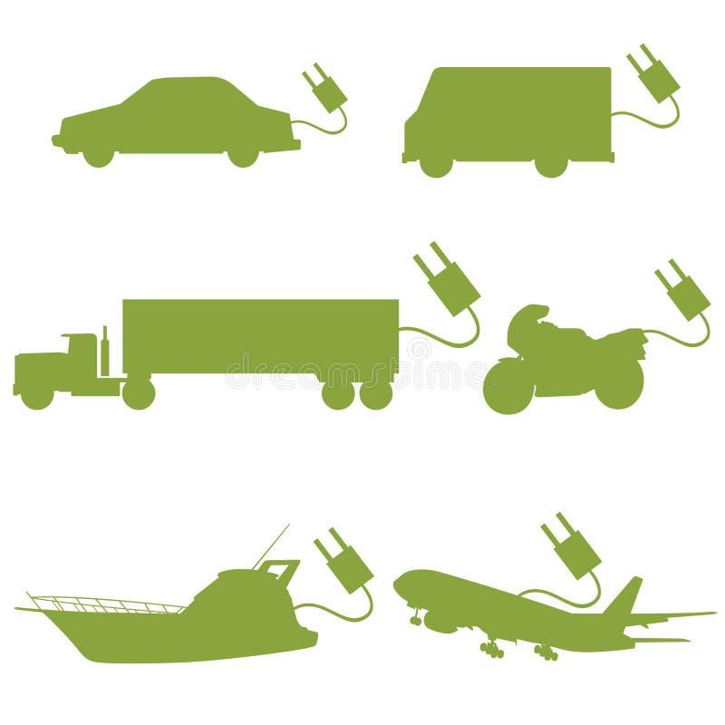 Transport vehicle green stock illustration