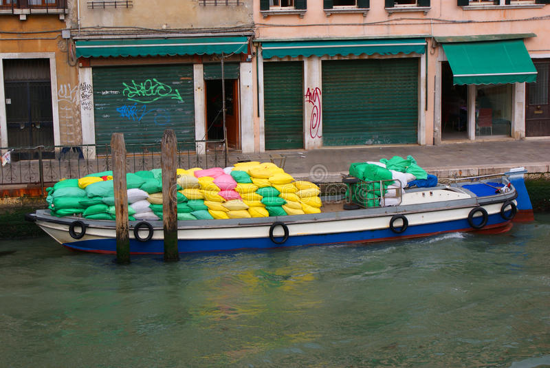 Daily transport in venice royalty free stock image