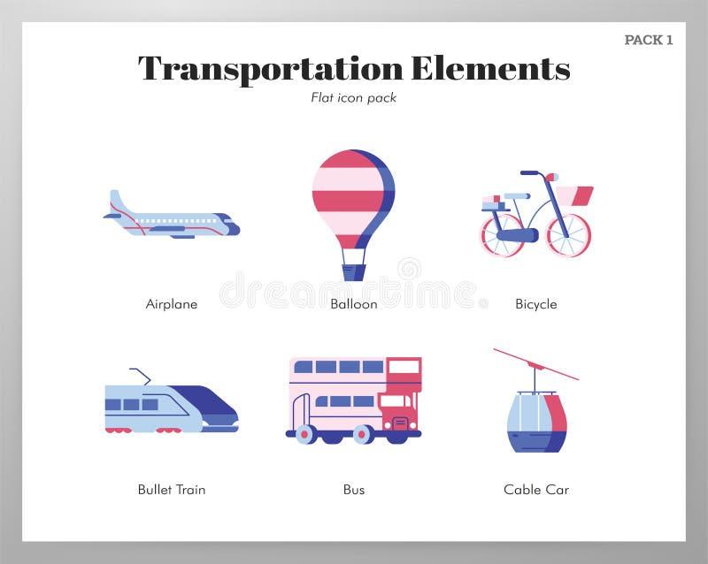 Transport?w element?w p?aska paczka royalty ilustracja