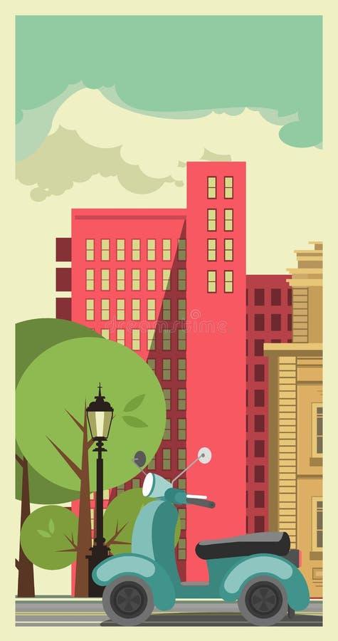 Transport w mieście royalty ilustracja
