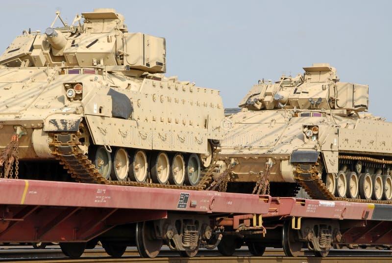 transport wojskowy kontenera obrazy royalty free
