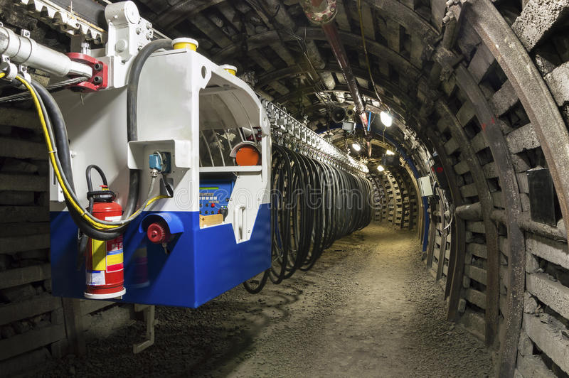 Transportador da mina de carvão fotografia de stock royalty free