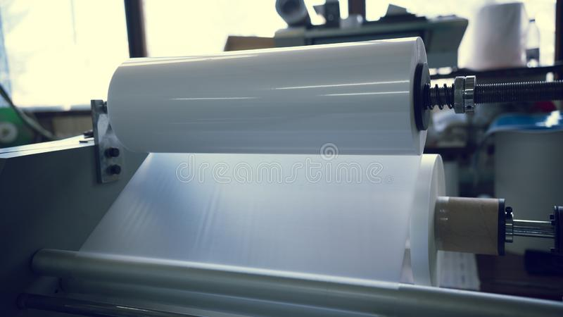 Transportador de impresión industrial foto de archivo