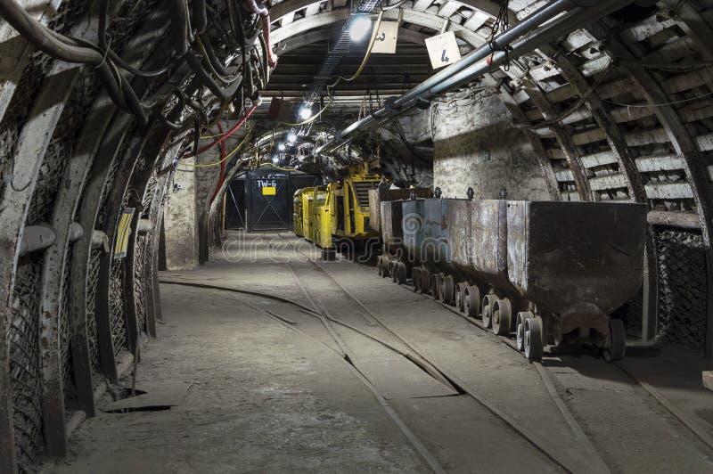Transportador de la mina de carbón imagenes de archivo