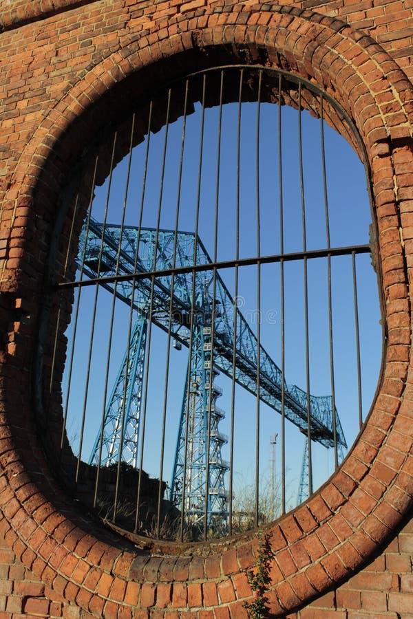 Transportador de Middlesbrough através da parede imagem de stock