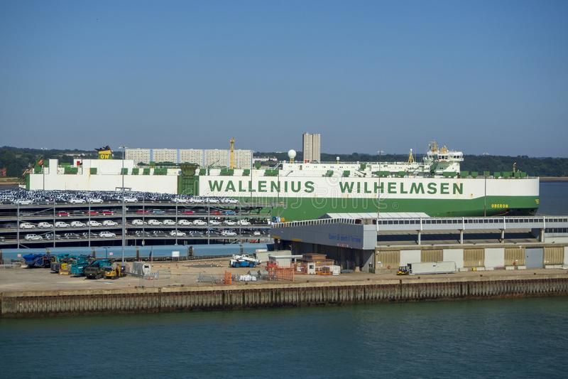 Transportador do carro de Wallenius Wilhelmsen foto de stock