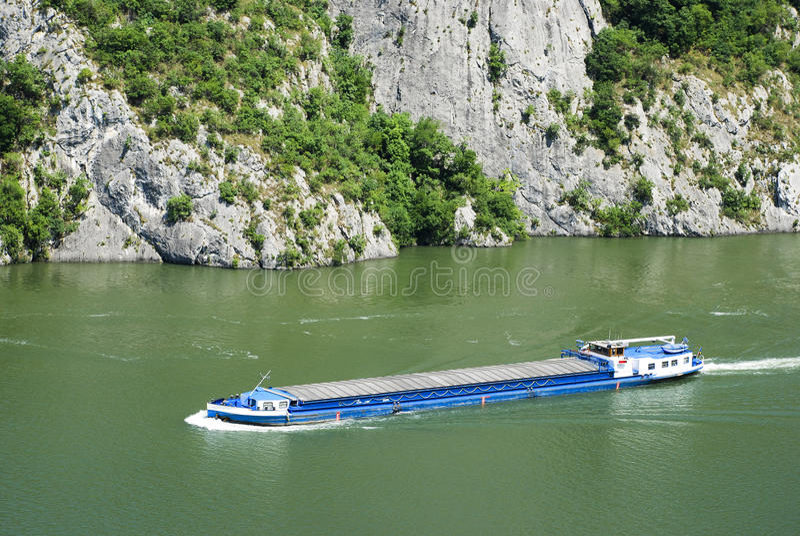 Transportador do rio imagem de stock