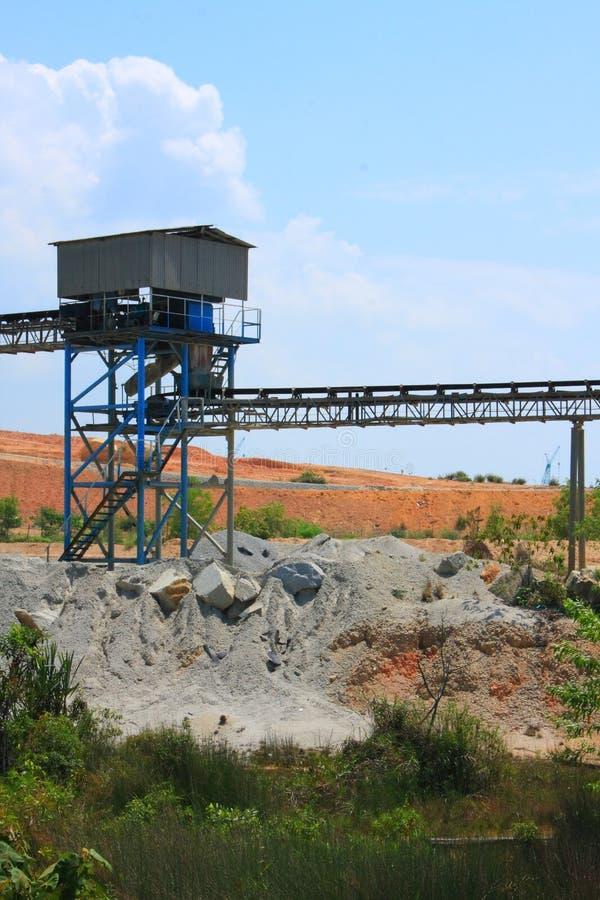 Transportadores de la explotación minera fotografía de archivo libre de regalías