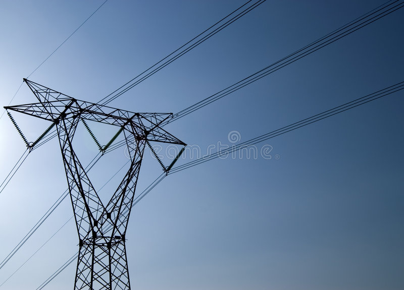 Transportando a eletricidade fotos de stock royalty free