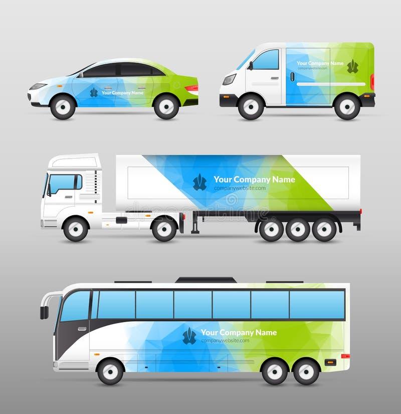 Transportannonseringdesign stock illustrationer
