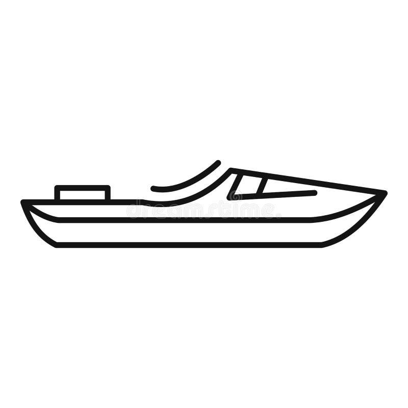 Transportar el icono del barco en balsa, estilo del esquema ilustración del vector