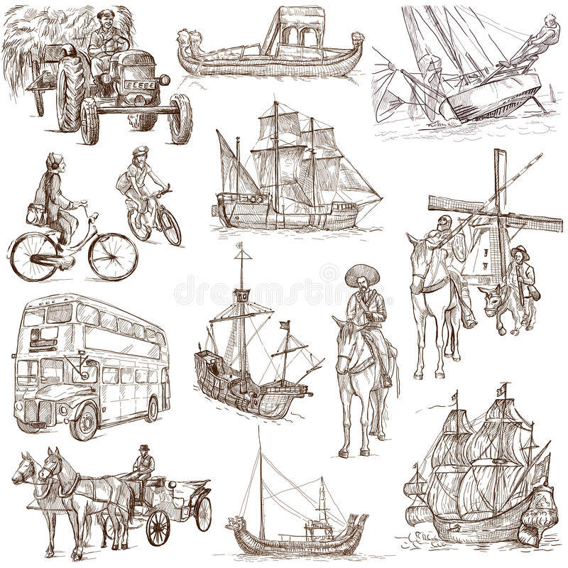 Transportation 2 royalty free illustration