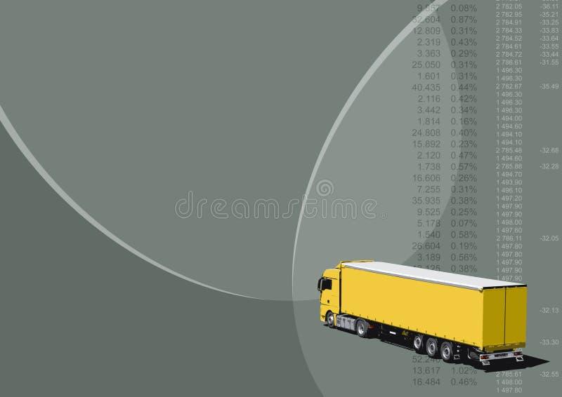 Transportation background. White truck on gray background - transportation (vectorized with 12 colours royalty free illustration
