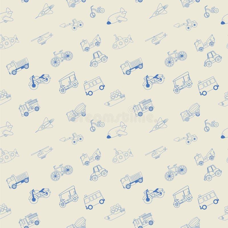 Transportation blue stripe seamless. stock illustration