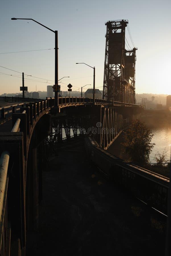 Transportation bridge stock photo