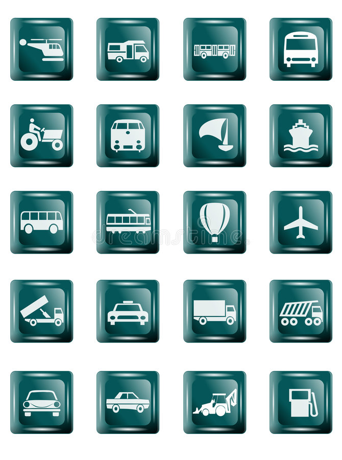 Download Transportation buttons stock illustration. Image of baloon - 1716952