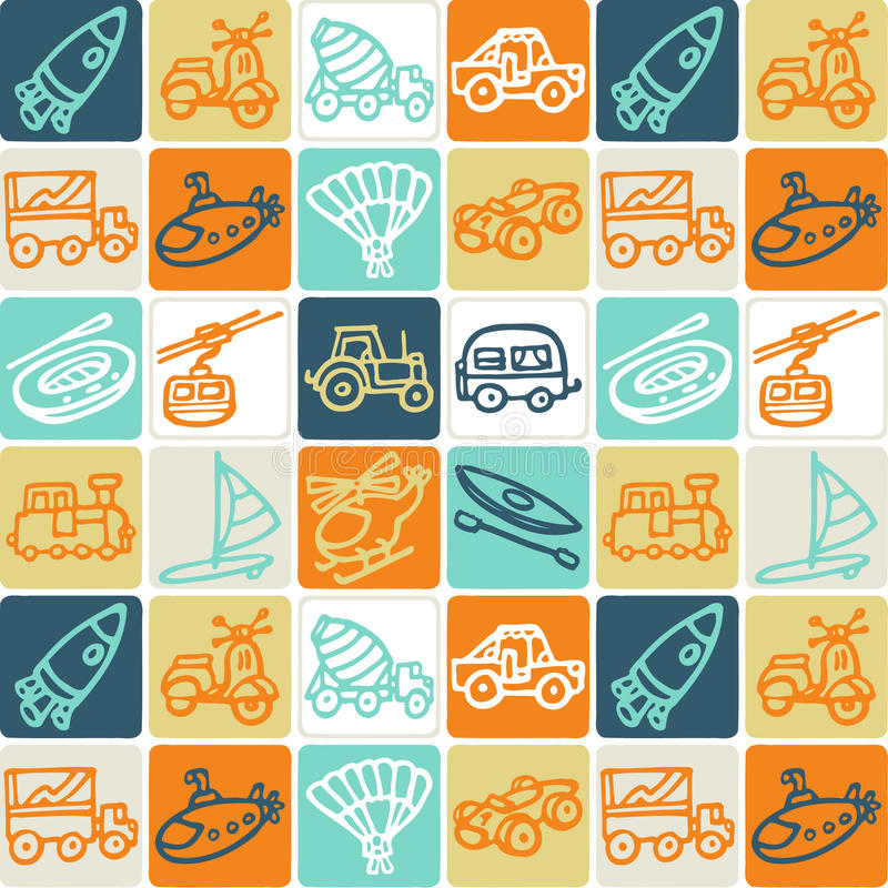 Download Transportation Checked Pattern Stock Vector - Image: 10560027