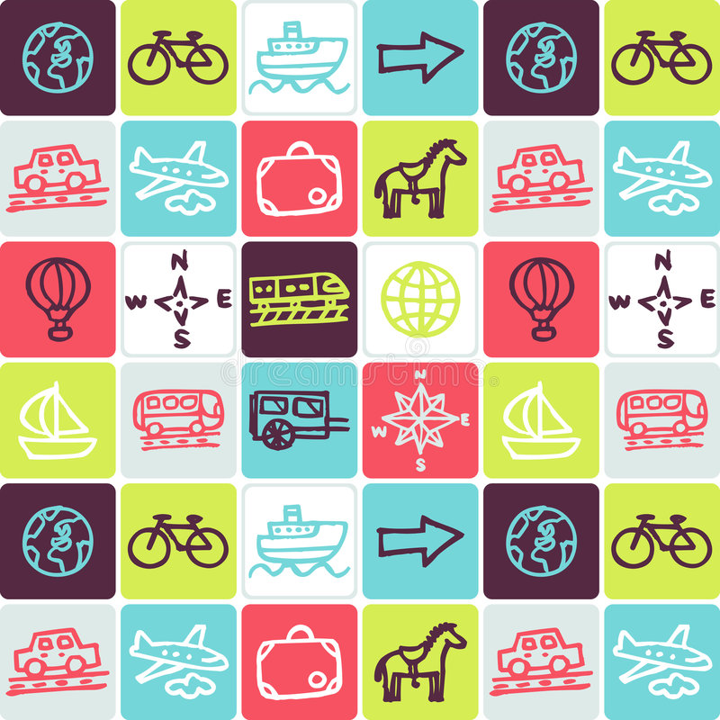 Download Transportation Checked Pattern Stock Vector - Image: 2958905