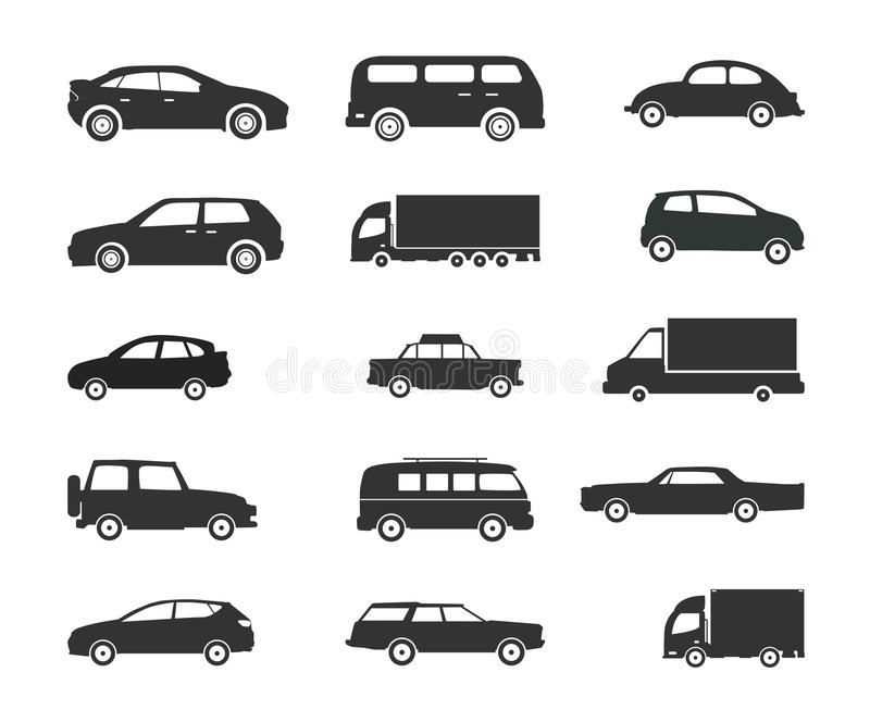 Transportation Clipart Set Stock Vector. Illustration Of