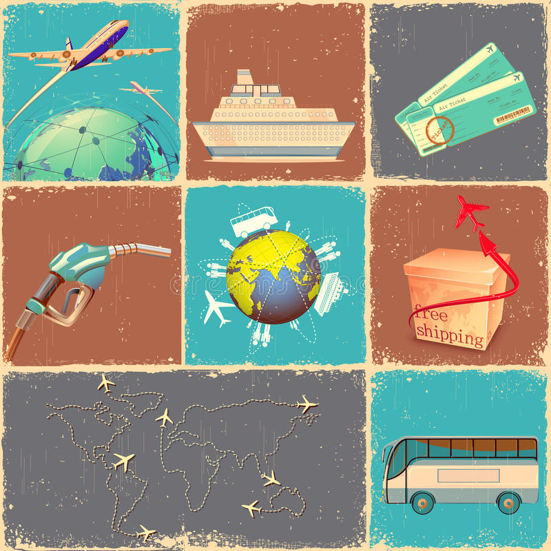 Transportation Collage Stock Photos