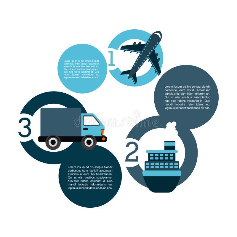 Transportation concept. Design, vector illustration eps10 graphic royalty free illustration