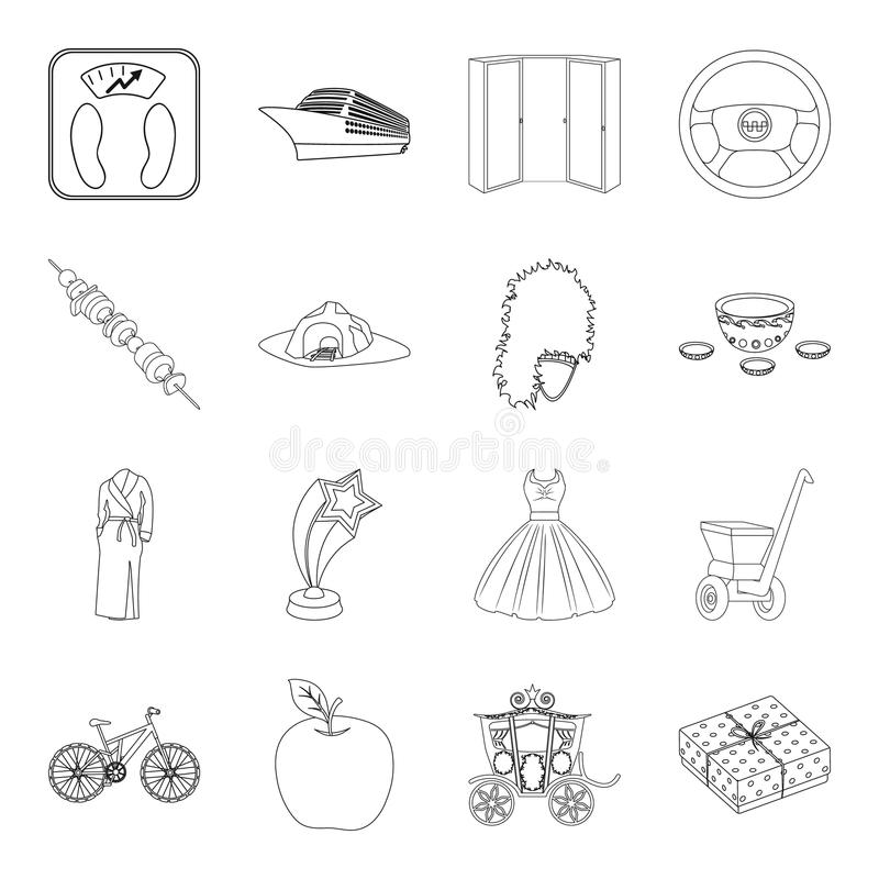 Transportation, education, sports and other web icon in outline style.service, medicine, shopping icons in set vector illustration