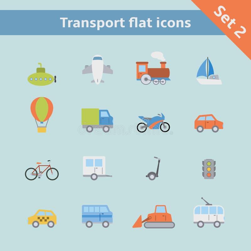 Free Transportation Flat Icons Set Stock Photo - 37898220