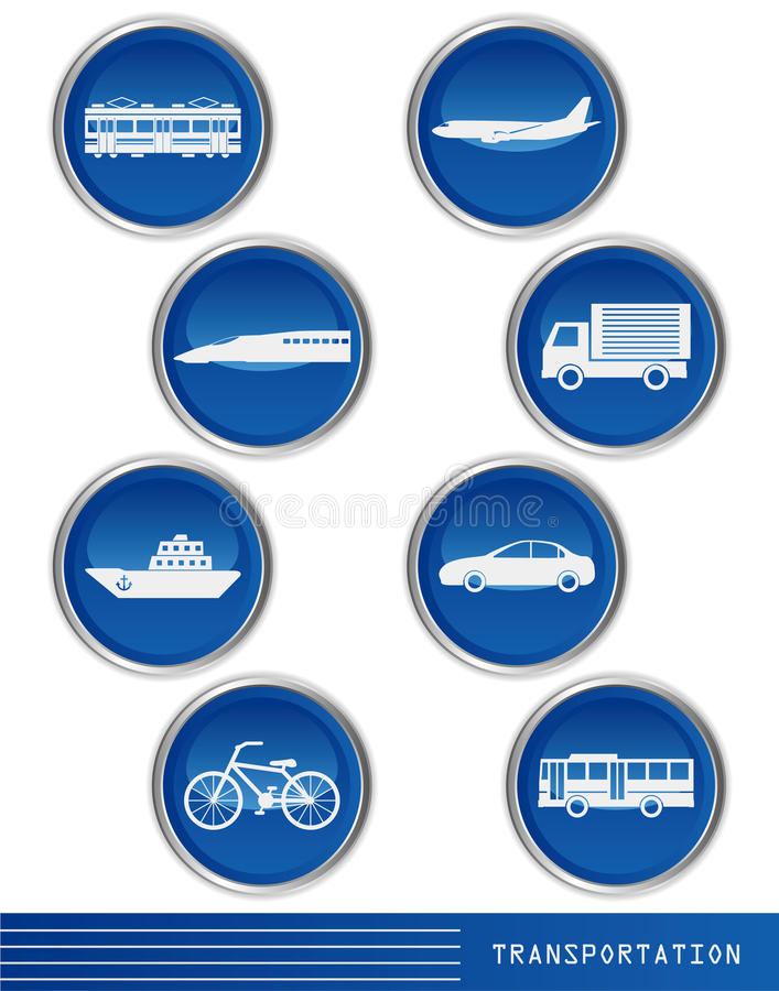 Transportation icon. This graphic is transportation icon stock illustration
