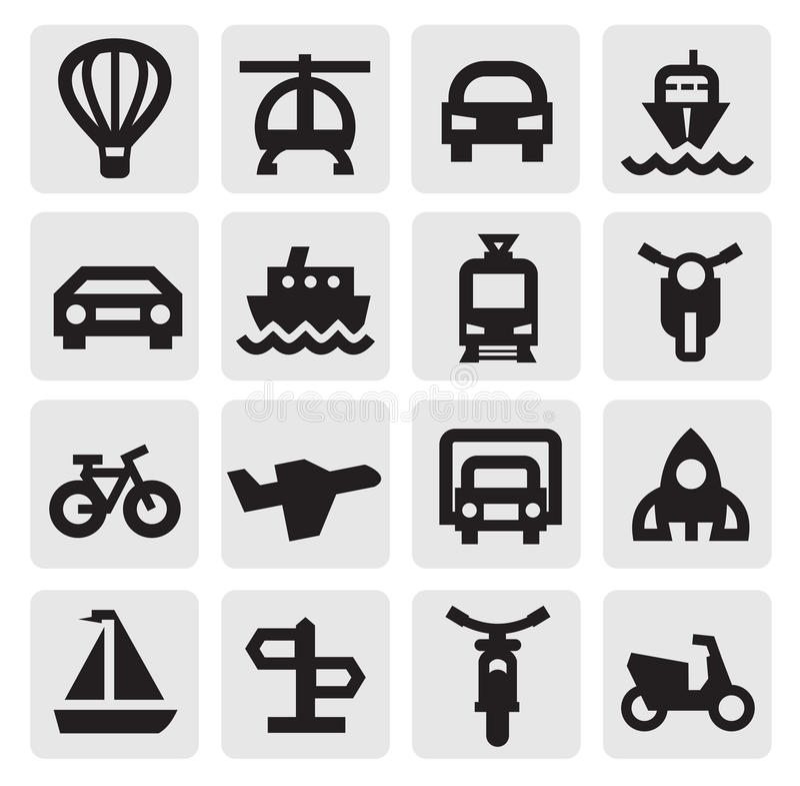 Transportation Icon Stock Images