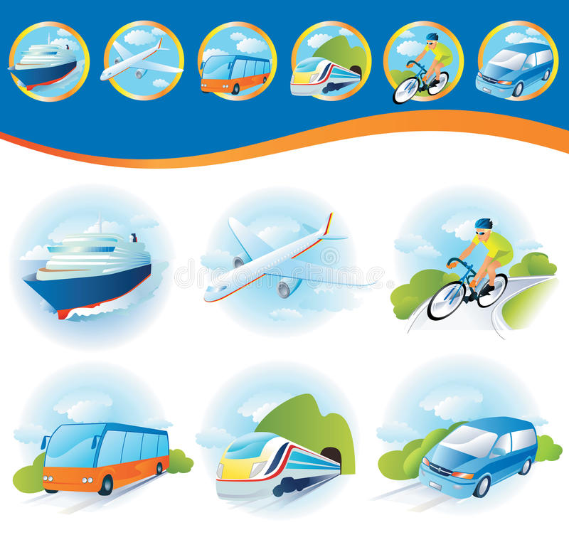 Download Transportation icon set stock vector. Illustration of bicycle - 21140135