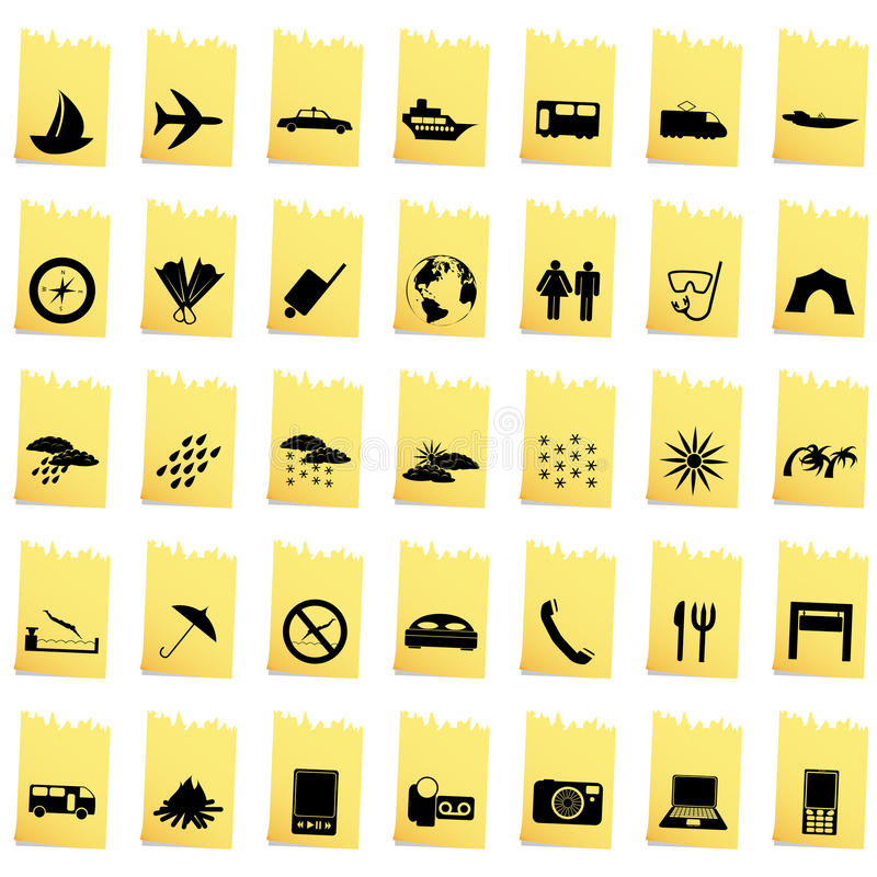 Download Transportation icon set stock vector. Image of buttons - 24799282