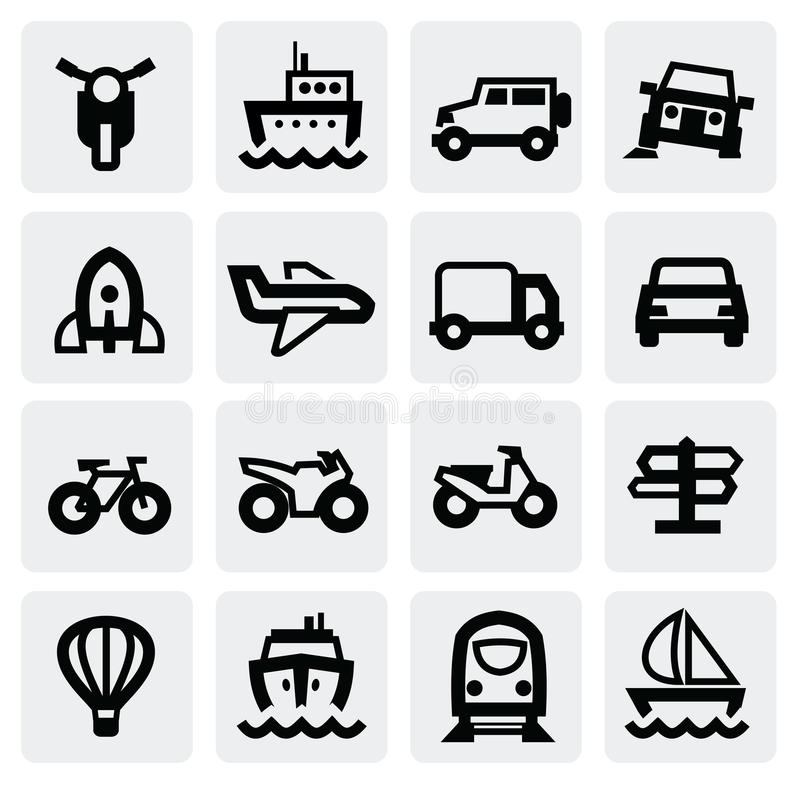 Download Transportation icon set stock vector. Image of rocket - 28123817