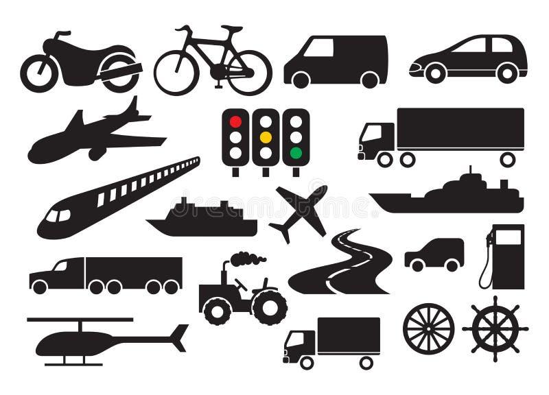 Transportation icon set stock illustration