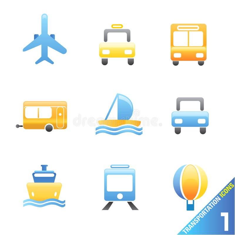 Transportation icons 1 royalty free illustration