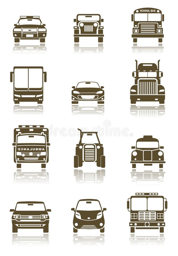 Download Transportation icons stock vector. Image of four, icon - 13376581