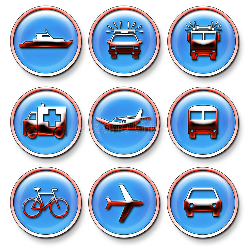Download Transportation Icons Stock Photos - Image: 18164763