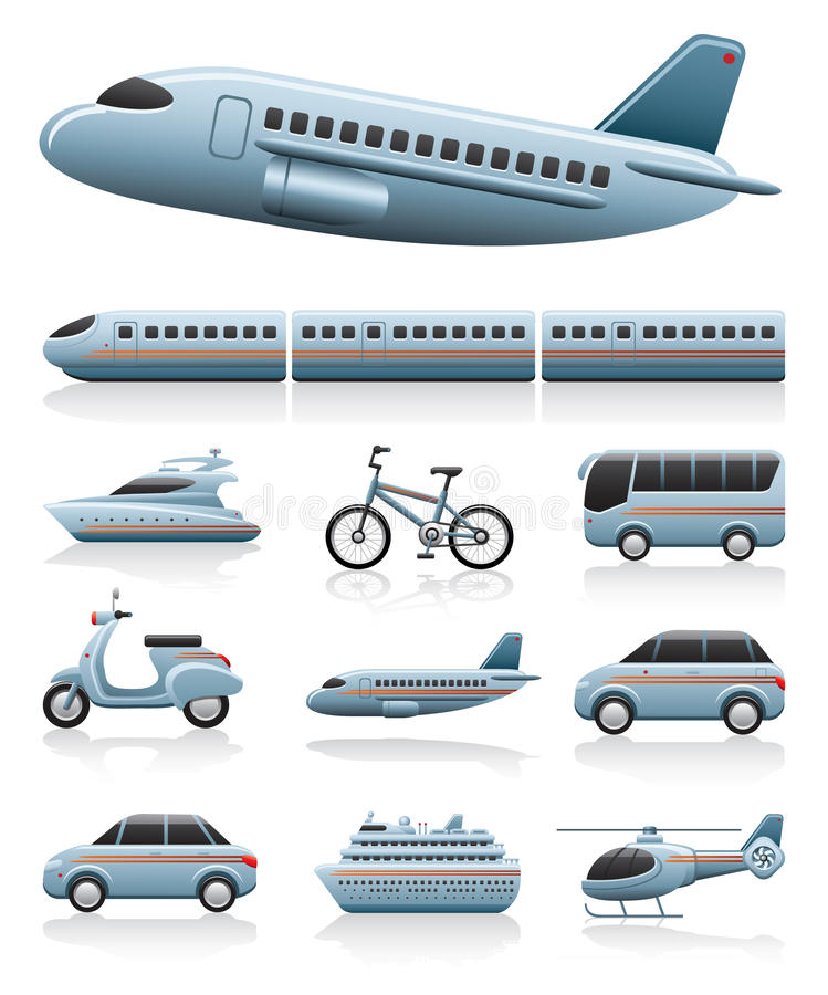Free Transportation Icons Royalty Free Stock Photos - 21041708