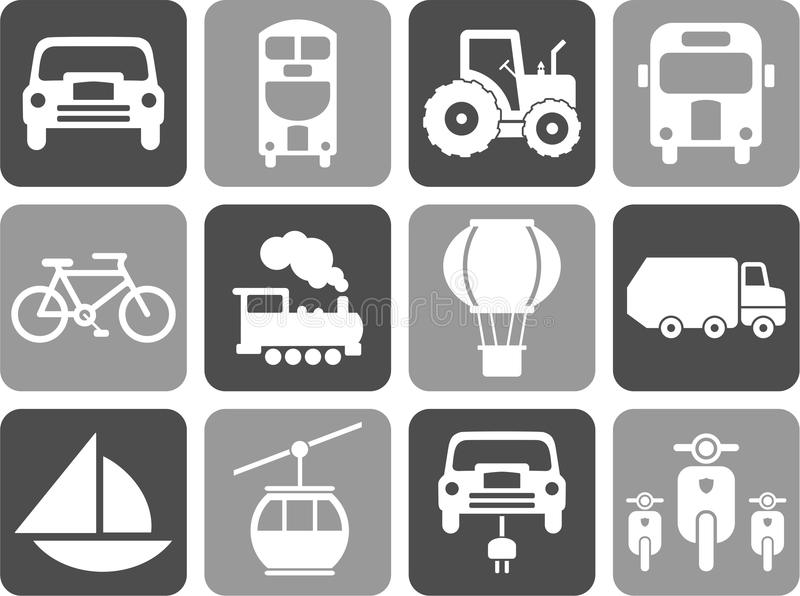 Transportation icons. Some icons related with transportation vector illustration
